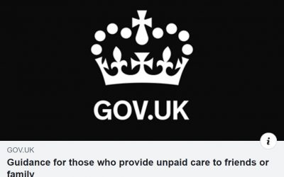 Guidance for those who provide unpaid care to friends or family