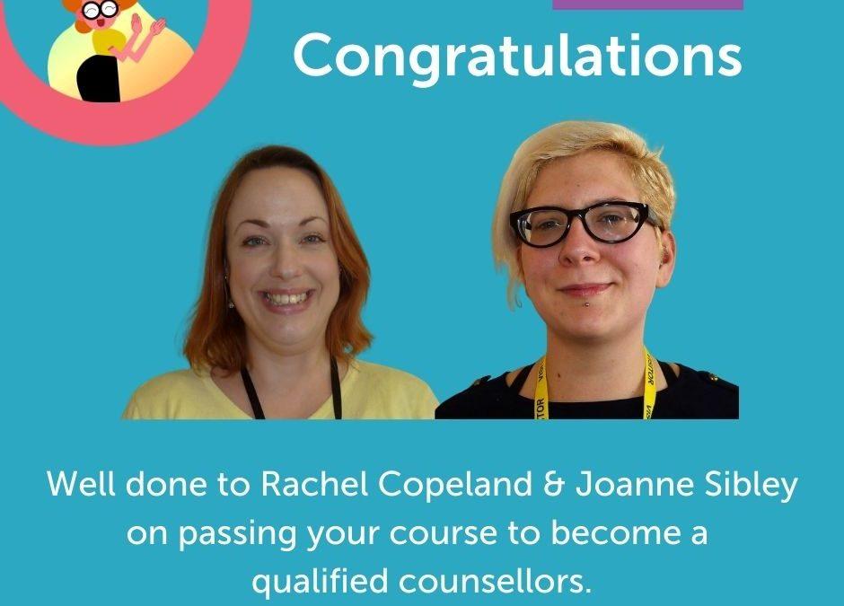Congratulations to Rachel & Joanne