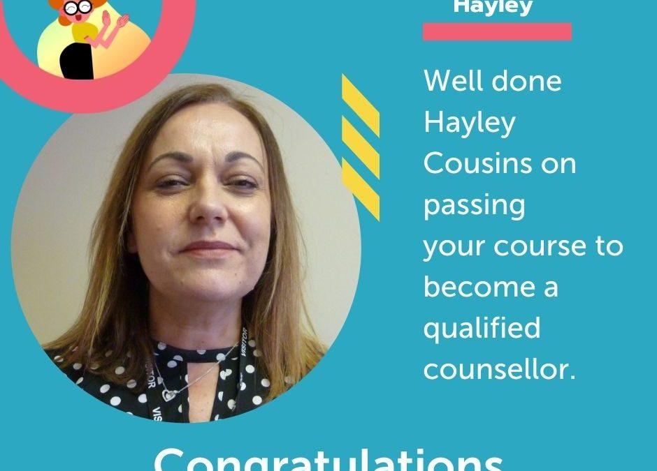 Congratulations Hayley Cousins